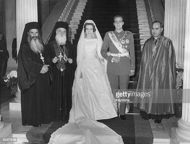 Princess Sophia of Greece marries Pretender to the Spanish throne Don Juan Carlos of Spain in Athens