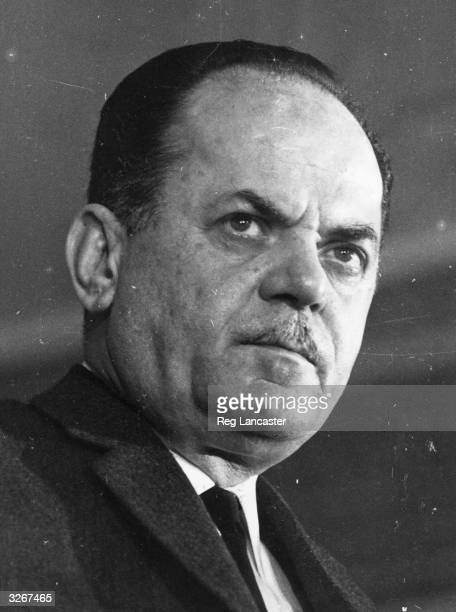 Colonel George Papadopoulos a member of the Greek government who in 1967 led a coup against the government of King Constantine II and established a...