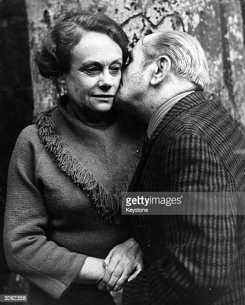 Harry Houghton kisses Ethel Gee members of the Portland spy ring meeting in New Forest soon after release from jail