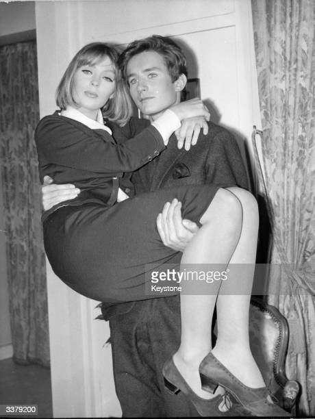 German born actress, model and singer Nico with Jean Sobiezki, the fiance of Egyptian singer Dalida.