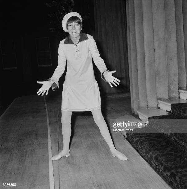 English fashion designer Mary Quant arriving at Buckingham Palace London to receive an OBE at an investiture ceremony held by Queen Elizabeth II