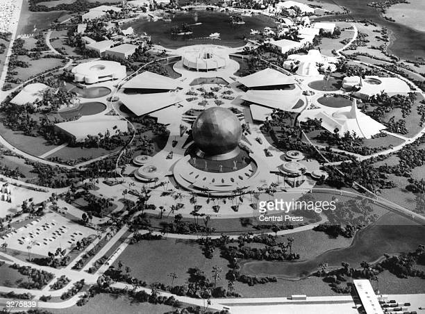 Disney World Epcot Centre Florida as it was expected to look in 1982