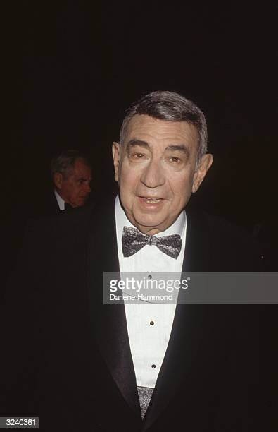 American sportscaster Howard Cosell wearing a tuxedo at the Television Academy Hall of Fame special taping at Stage 24 of the Fox Studio lot...
