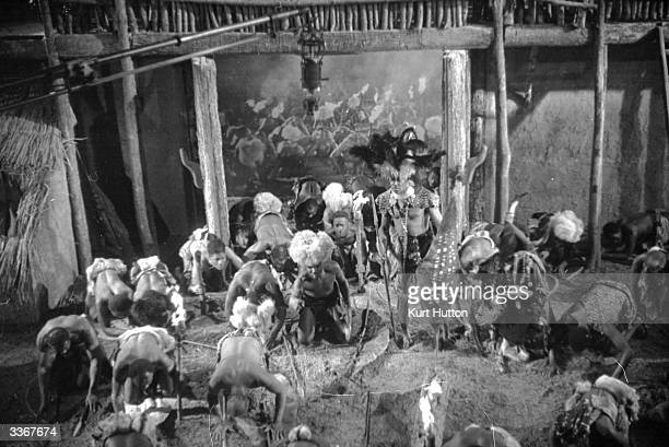 Extras on the set of the film 'Old Bones of the River' directed by Marcel Varnel and produced by Gainsborough Pictures Original Publication Picture...