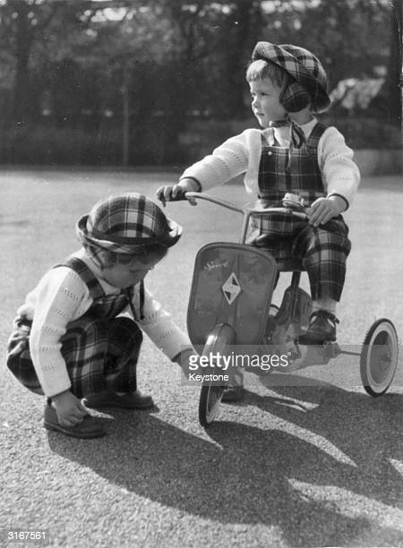 While their mother Swedish actress Ingrid Bergman is playing the title role in 'St Joan' at the Stoll Theatre in London her 4yearold twins Ingrid and...
