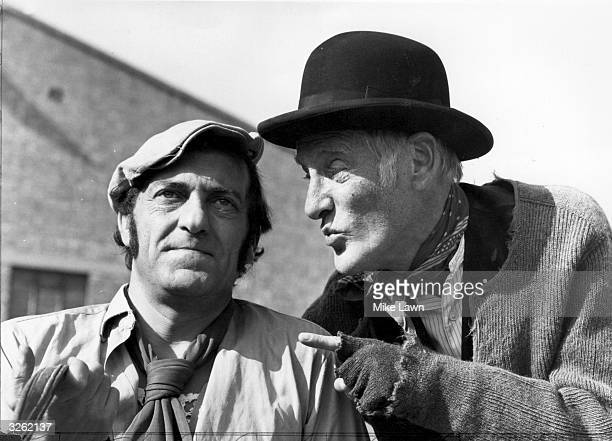 Harry H Corbett and Wilfrid Brambell stars of the television series 'Steptoe and Son'