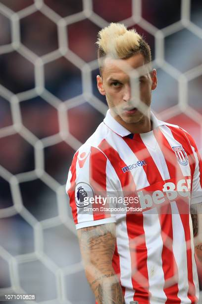 15th October 2016 - Premier League - Stoke City v Sunderland - Marko Arnautovic of Stoke - .