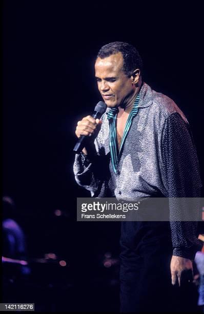 15th OCTOBER: singer Harry Belafonte performs at de Doelen in Rotterdam, Netherlands on 15th October 1988.