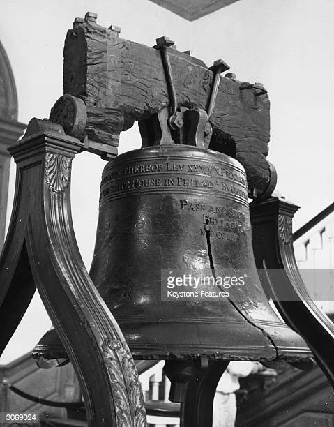 The Liberty Bell at Independence Hall, where the US Constitution was written, the Declaration of Independence was accepted and where the Bell was...