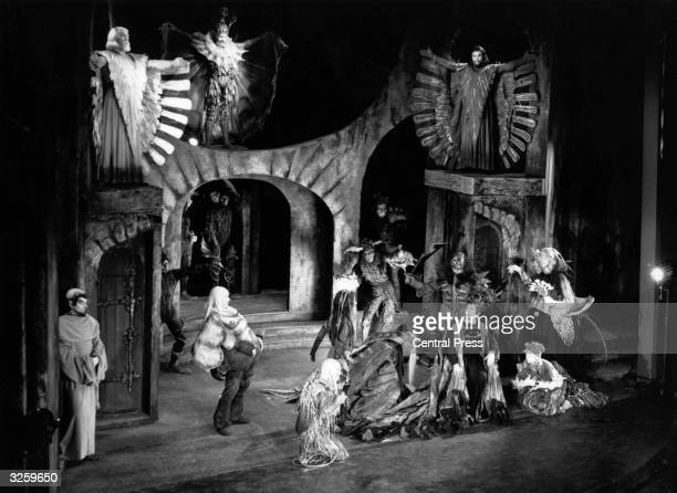 A scene from Marlowe's 'Dr Faustus' at the Old Vic