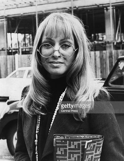 Film actress Suzy Kendall after petitioning for divorce from Dudley Moore