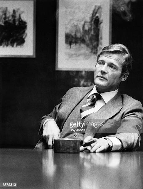 The English actor Roger Moore