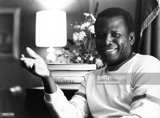 Sidney Poitier the American actor and film director Hollywood's first real black star his films include 'Something of Value' in 1957 'Lilies of the...