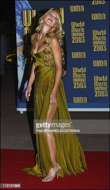 15th World Music Awards in Monaco City Monaco on October 12 2003 Anna Kournikova