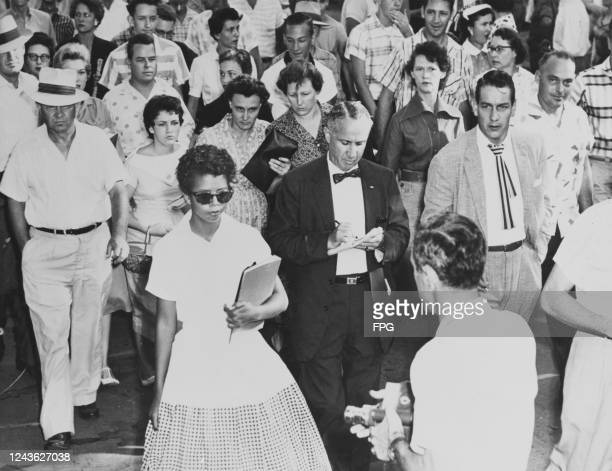 15yearold Elizabeth Eckford is followed by a sullen mob as she attends her first day at Little Rock Central High School in Little Rock Arkansas 4th...