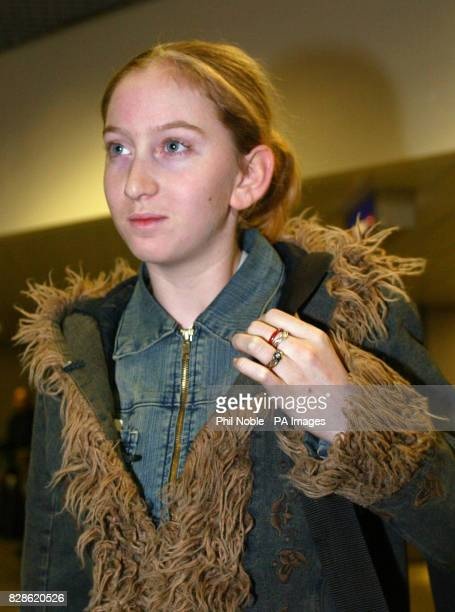 15yearold Rachel Lloyd arrives back at Manchester Airport Manchester from Istanbul Turkey after seeing her Turkish lover jailed for five years * Miss...