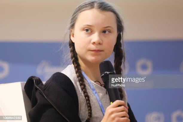 15yearold Swedish climate activist Greta Thunberg at COP 24 the 24th Conference of the Parties to the United Nations Framework Convention on Climate...