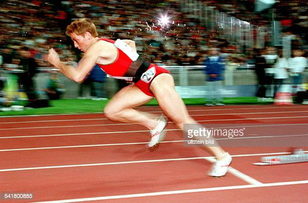 Sportlerin Leichtathletik DISTAF in Berlin 400m beim Start
