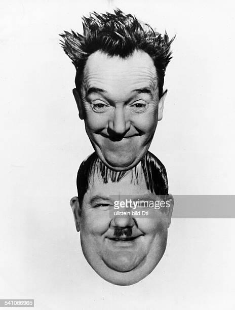 *16061890Schauspieler USAmit seinem Partener Oliver Hardy alias 'Dick Doof' 1938