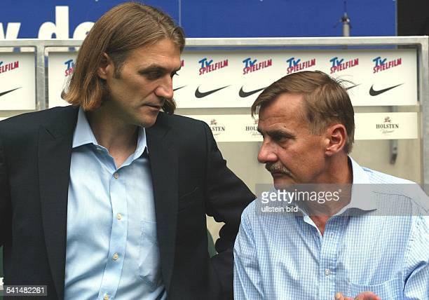 Manager des Hamburger Sportvereinsmit HSV-Präsident Werner Hackmann