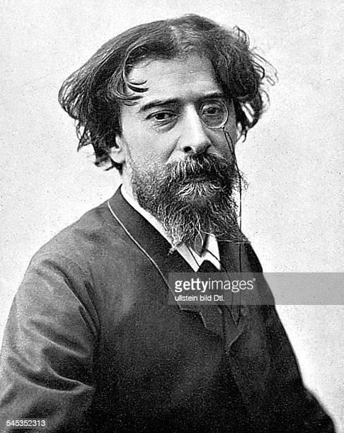 13051840 16121897Schriftsteller FrankreichPorträt mit Monokel um 1880nach einer Fotografie von Eugene Pirou