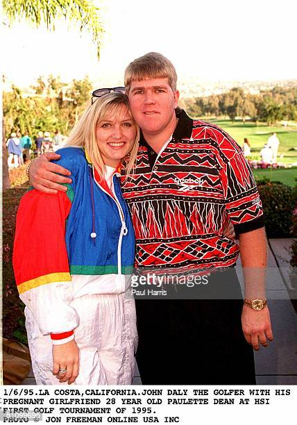 La Costa CaliforniaThe Troubled Golfer John Daly At His First Golf Tournament In 1995With His New Pregnant Girlfriend 28 Year Old Paulette DeanThe...