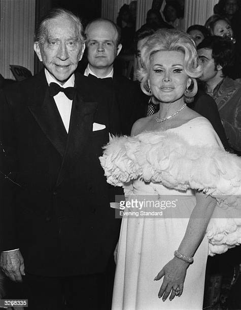 John Paul Getty American oil executive multimillionaire and art collector with Zsa Zsa Gabor exotic international Hungarian leading lady