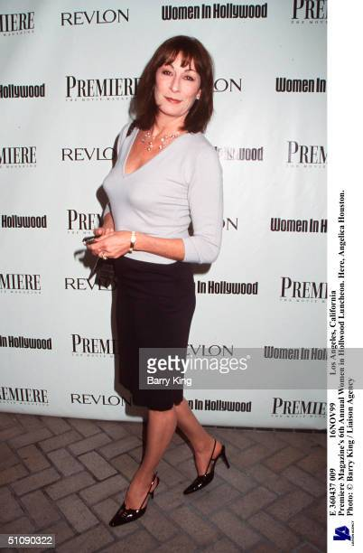 E 360437 009 16Nov99 Los Angeles California Premiere Magazine's 6Th Annual Women In Hollwood Luncheon Here Anjelica Huston