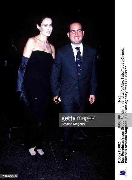 P 358915 002 16Oct99 Nyc Ron Perelman's Son Steve Perelman And Wife Alex Batoff At Le Cirque