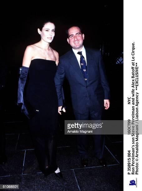P 358915 004 16Oct99 Nyc Ron Perelman's Son Steve Perelman And Wife Alex Batoff At Le Cirque