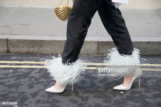 16tFashion designer Federica Cavenati wears all 16Arlington with Manolo Blahnik shoes on day 4 of London Womens Fashion Week Autumn/Winter 2017 on...