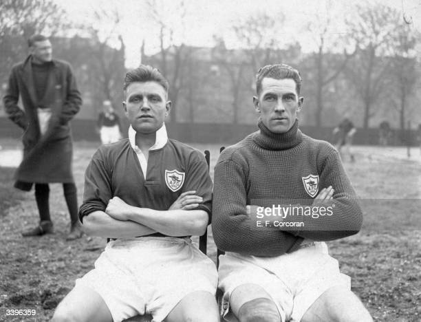 Arsenal FC soccer players, E A Hapgood who made 440 first team appearances for Arsenal FC and D Lewis who made 167 first team appearances for Arsenal...