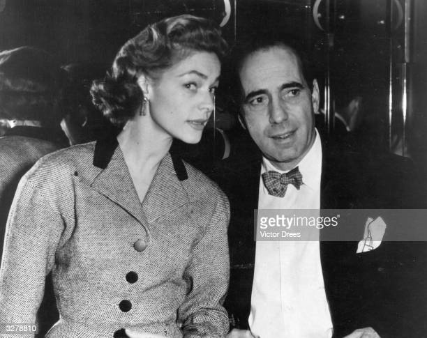 Humphrey De Forest Bogart American film actor with his wife Lauren Bacall originally Betty Joan Perske an American actress