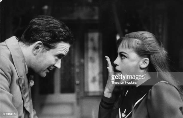 Leslie Caron as 'Gigi' with Tony Britton when the show came to London's West End Original Publication Picture Post 8575 Gigi unpub