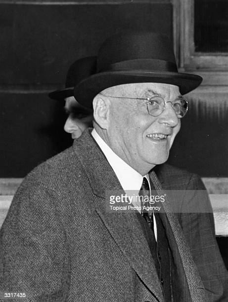Politician John Foster Dulles at Lancaster House, London for the Suez Canal Conference.