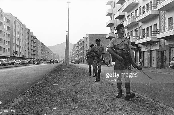British troops on patrol in Aden
