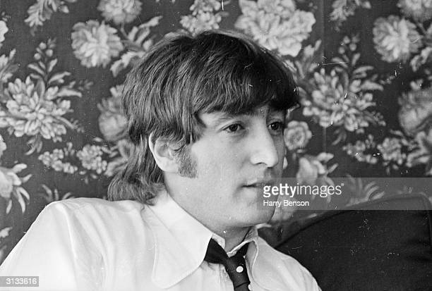John Lennon of the Beatles, after making a formal apology for his controversial statement that the group were 'more popular than Jesus'.