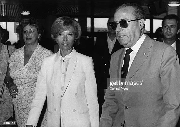 Former Argentinian president Isabel Peron arriving at Madrid airport from Malaga where she has been staying since her release from prison in Buenos...