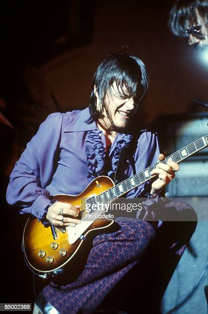 J Geils from the J Geils Band performs live on stage at the Calderone Theater in Long Island New York on 16th August 1975