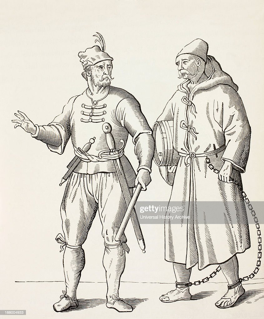 16Th Century Galley Solder With A Galley Slave : News Photo