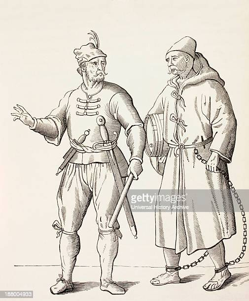 16Th Century Galley Solder With A Galley Slave From Military And Religious Life In The Middle Ages By Paul Lacroix Published London Circa 1880