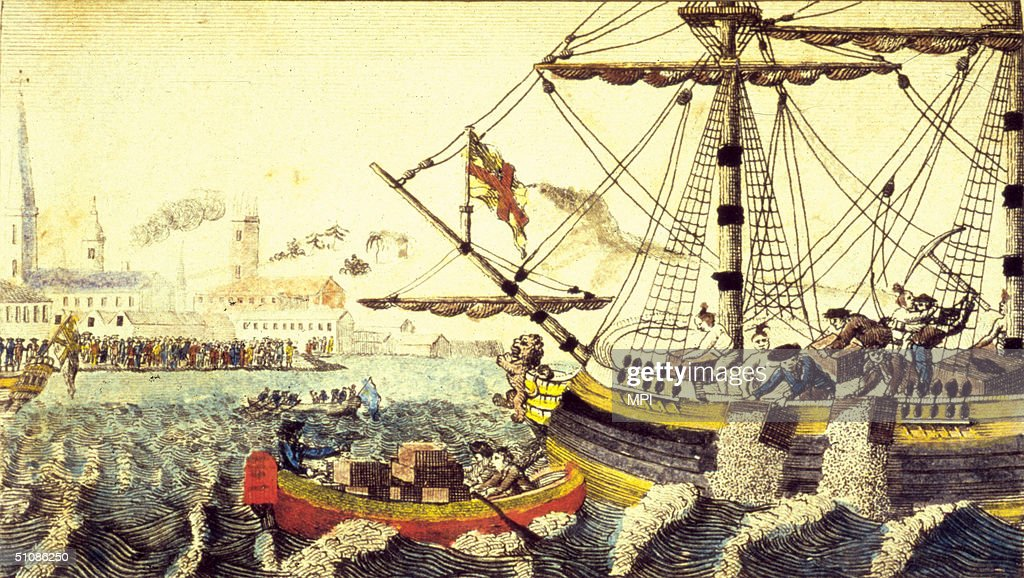Boston Tea Party : News Photo