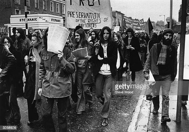 The Angry Brigade march from Shepherds Bush to Wormwood Scrubs in North West London.