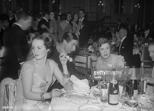 Mrs Peter Horlick with other guests at Nash's Club during a Leap Year Party Dinner at the Carlton Hotel