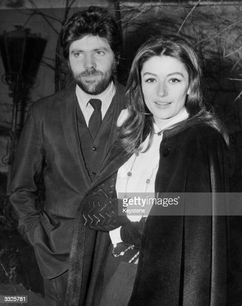 French film actress Anouk Aimee with her actor husband Pierre Barouh, in London for the opening of the award-winning Claude Lelouch film 'Un Homme Et...