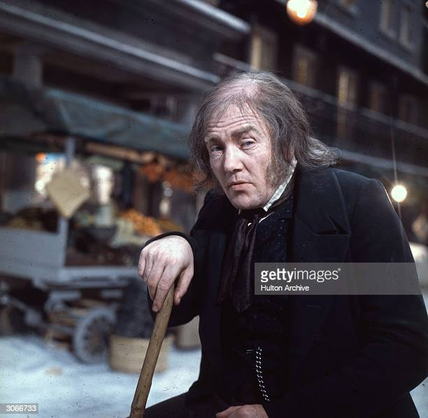 British actor Albert Finney plays Ebenezer Scrooge in Ronald Neame's Dickensian musical 'Scrooge'