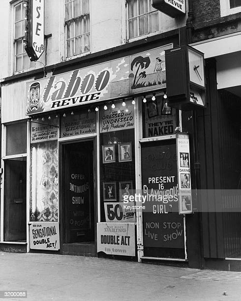 The Taboo Revue strip club in Soho which boasts daring double acts and promises 'a lavishly dressed and undressed fully produced show'