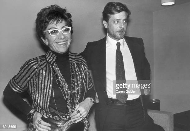 Italian film director Lina Wertmuller and Italian actor Giancarlo Giannini attend the American premiere of Wertmuller's film 'Seven Beauties' at...