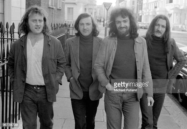 Irish folk group Planxty London 16th January 1973 Left to right Christy Moore Liam O'Flynn Andy Irvine and Donal Lunny