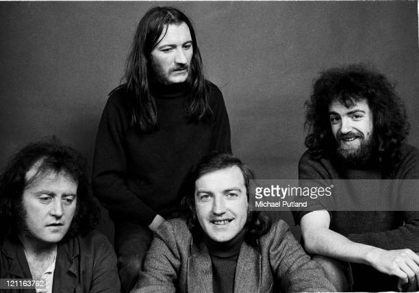 Planxty studio group portrait London 16th January 1973 LR Christy Moore Donal Lunny Liam O'Flynn Andy Irvine
